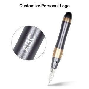 Image 4 - Neueste Professionelle Tattoo Maschine Schreibmaschine Für Permanent Make Up Augenbrauen Microblading Make Up Kit Mit Tatto Patronen Nadel