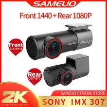 Sameuo – caméra de tableau de bord avant et arrière, WIFI 2K 1080P, DVR, enregistreur vidéo automatique, vision nocturne, moniteur de stationnement 24H, application, U700
