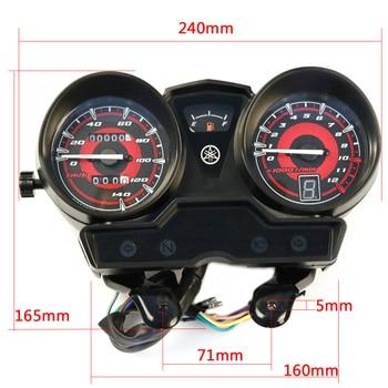 Motorcycle Tachometer for YAMAHA YBR125 YBR YB 125 JYM125 New Speedometer Meter Gauge Moto Tacho Instrument Clock Case yb