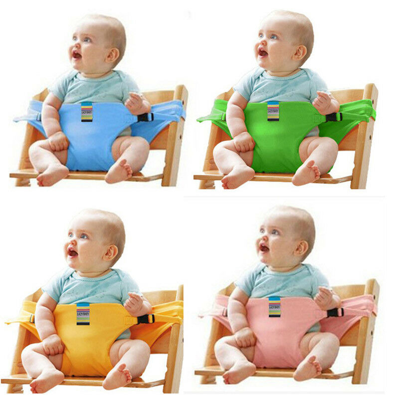 High Quality Baby Portable High Chair Booster Safety Seat Strap Harness Dining Seat Soild  Belt Protective Activity Tools