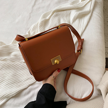 цена на Fashion Woman PU Leather Shoulder Bag Solid Color Buckle Hard Bolsa Feminina Luxury Handbags Women Crossbody Bags For Designer