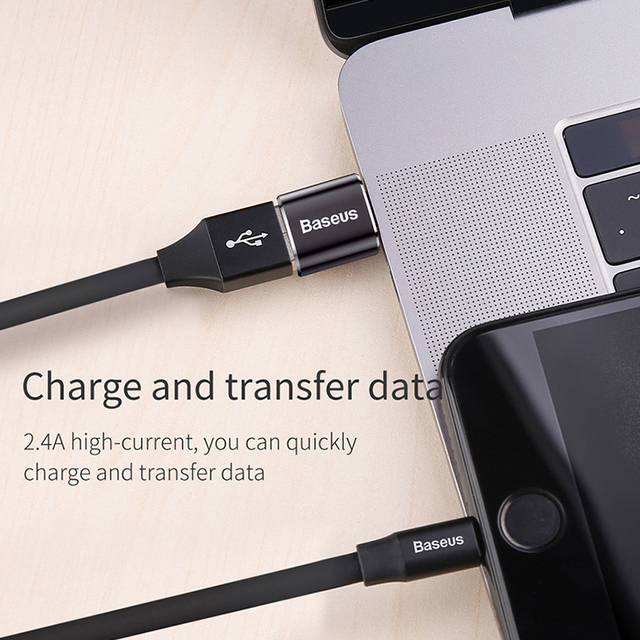 Baseus USB To Type C OTG Adapter USB USB-C Male To Micro USB Type-c Female Converter For Macbook Samsung S20 USBC OTG Connector 6