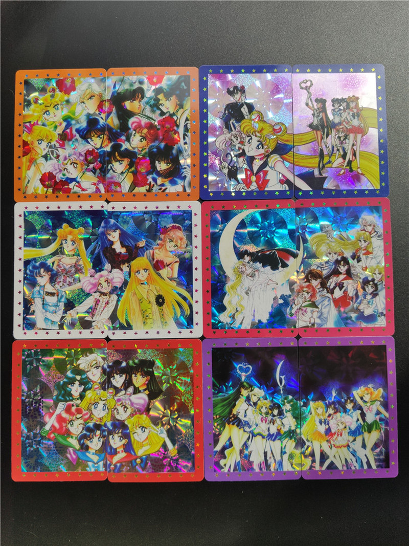 20pcs/set Sailor Moon 2 In 1 Pasteable Sexy Beauty Hobby Collectibles Game Collection Anime Cards Limit Sexy Girl Free Shipping