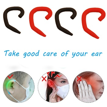1Pair Anti-Slip Silicone Mask Ear Grips Extension Hook Soft Mask Ear Protector Mask Accessories Anti-Pain Anti-Leak