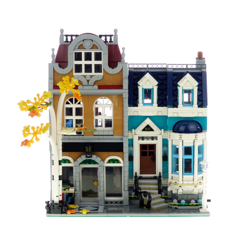 LepinBlocks 10201 BookShop Compatible Creator <font><b>10270</b></font> Street View Model Building Bricks Educational Toys Birthdays Gifts image