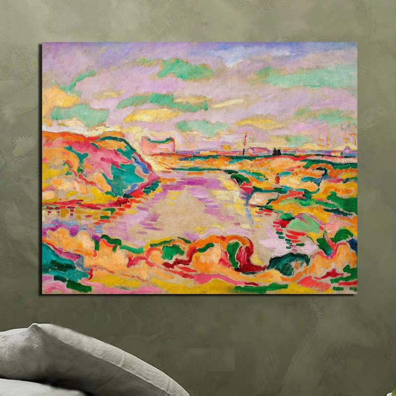 Georges Braque Landscape Near Antwerp Canvas Painting Print Living Room Home Decor Modern Wall Art Oil Painting Posters Pictures