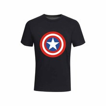 T-shirt Fashion U.S. Captains Shield Mens Leisure Summer New Cotton Short Sleeve loose summer T shirt for men tops tee