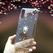 Glitter Case For Vivo Iqoo U1 Y89 Y91 Y91C V15 Pro Cover Soft Clear Cases For Vivo Y91i Y95 X27 V15 Pro V17 Neo Diamond Cover(China)