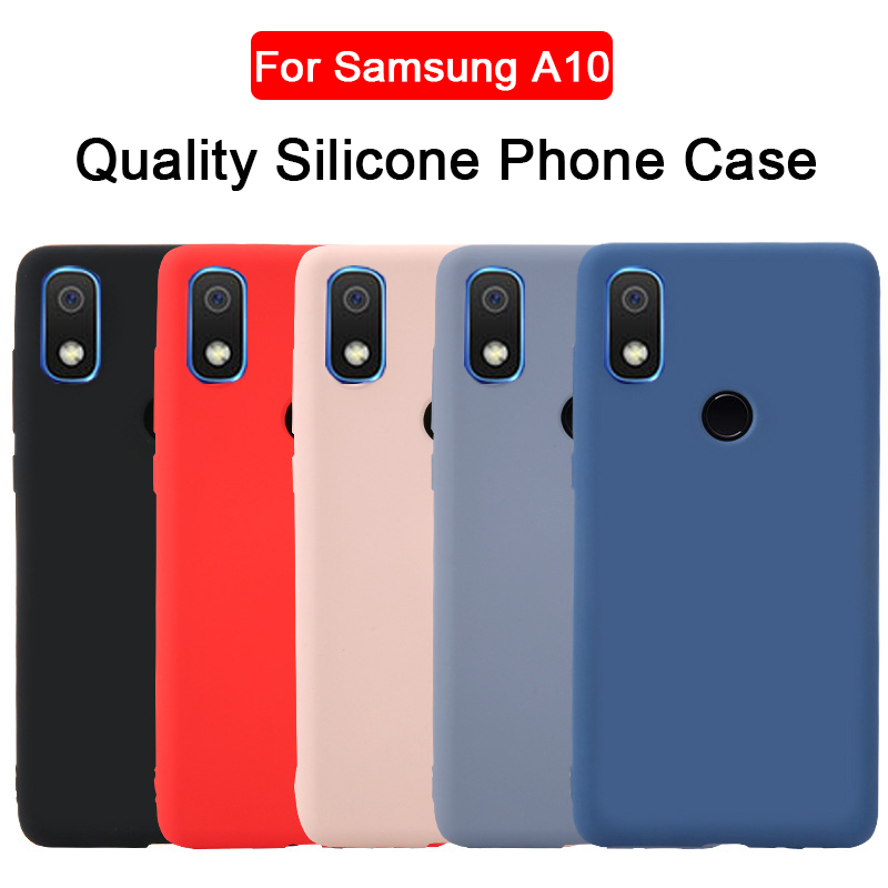 A10 Liquid Silicone Case for Samsung A10 Phone Protective Cover on for Samsung Galaxy A 10 A105F <font><b>A105FN</b></font> A105G A105M Soft coque image