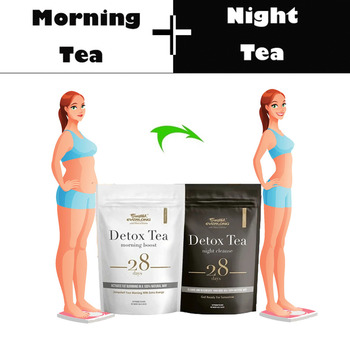 28 Days Detox Drink Night&Morning Burning Fat Colon Cleanse Flat Belly Balance Accelerated Slimming Weight Loss Products Serum