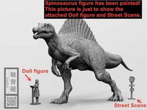 Image 3 - Stokta var! Nanmu stüdyo 1/35 ölçekli Spinosaurus Supplanter Jurassic gerçekçi dinozor aksiyon figürü PVC Model oyuncaklar toplayıcı