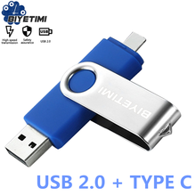 Biyetimi Tipo C unidade flash usb OTG 128GB 2.0 GB pen drive 32 64GB флэш-накопител memory stick usb capacidade real para o telefone & cPC