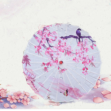 Classical Oiled Paper Umbrella Rain And Sun Handmade Ancient China Style Decorated Japanese Umbrella Women Dance Props free shipping butterfly and peony oiled paper umbrella dia 84cm anti rain sunshade waterproof dance collection gift umbrella