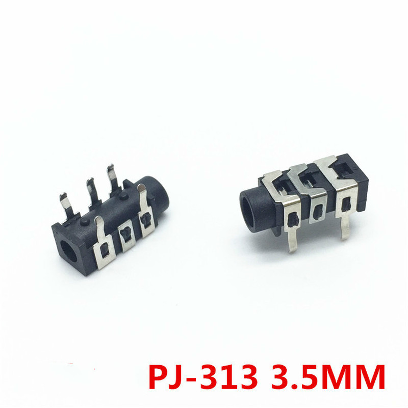 10Pcs PJ313 <font><b>3</b></font>.5mm 5Pin Stereo Headphone Audio <font><b>Jack</b></font> Earphone Socket Audio Socket PJ-313 The <font><b>3</b></font> Section Of the <font><b>5</b></font> pin image