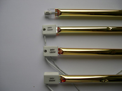 Infrared Radiant Medium Wave Twin Tubes Gold Plated Heating Lamp