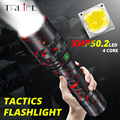 Тактический фонарь мощный XHP50.2 светодиодный фонарь Xlamp алюминиевый охотничий L2 водонепроницаемый 18650 26650 фонарь Lanterna