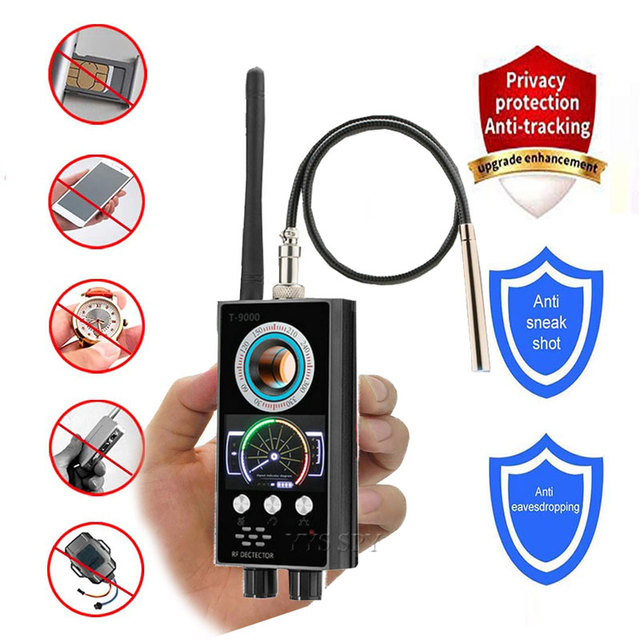 IR Laser RF Detector T9000 Anti Spy Cam Hidden Camera Scanner WiFi Signal GPS GSM Radio Phone Tracker Finder Private Security 1