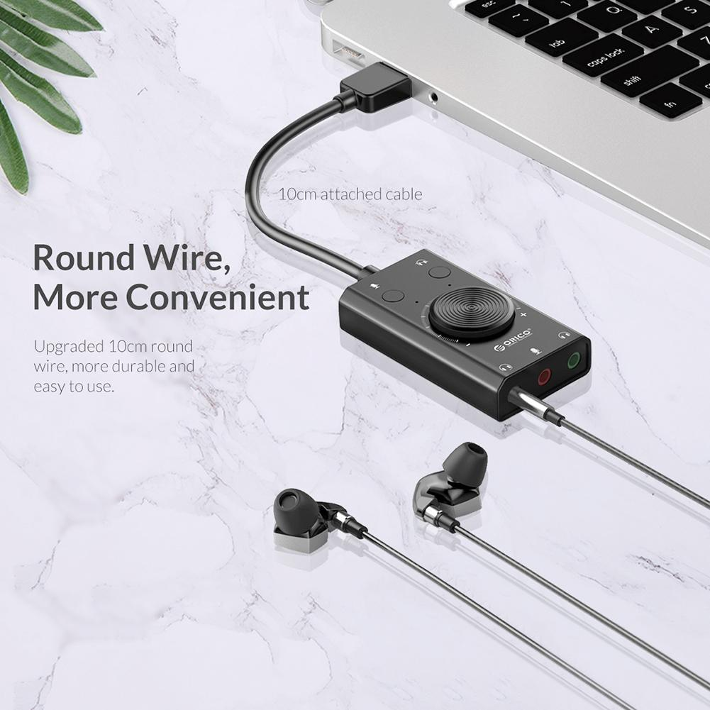 Orico SC2 USB 2.0 External Sound Card 8
