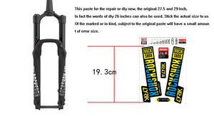 Image 5 - 2018 rockshox LYRIK mountain bike front fork stickers bicycle front fork decals Bicycle Accessories