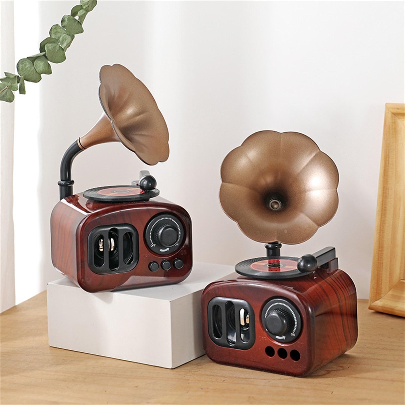Retro Music Box Fashionable Home Decoration  Mini Gramophone Nostalgic Style Mechanical Creative Birthday Gift Decoration