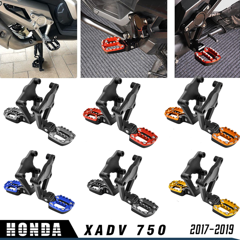 Motorcycle Accessories Aluminum XADV750 Folding Rear FootPegs Foot Pegs Footrests Pedals Passenger for 2017-2019 X ADV XADV 750