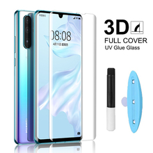 цена на For Huawei P30 Pro Screen Protector UV Glass For Huawei Mate 20 P20 Pro P20 Mate 20 Lite Nano Liquid UV Glue Tempered Glass Film