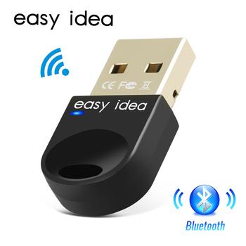 Bezprzewodowy Adapter USB z Bluetooth 5 0 do komputera wtyczka Bluetooth USB Bluetooth 4 0 Adapter PC odbiornik Bluetooth nadajnik tanie i dobre opinie EASYIDEA CN (pochodzenie) BA100401 Bluetooth v4 0 3Mbps 0-20M CSR8510 Support All Windows XP Vista wireless mouse keyboard pc