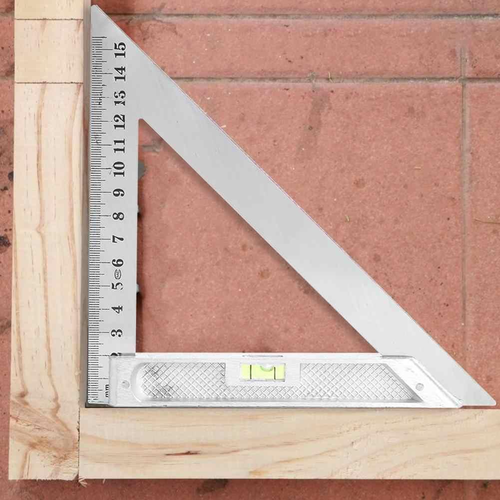 Righello multifunzione ad angolo quadrato da 300 mm Righello ad angolo quadrato 45//90 gradi con strumenti di misurazione della livella a bolla
