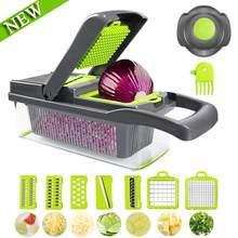 Multifuncional vegetal slicer frutas descascador ralador cesta de drenagem grande recipiente cozinha ferramenta vegetal slicer iu007