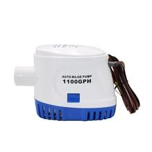 Bomba de agua eléctrica sumergible sentina automática para barcos, 12V, 24V, 1100GPH, pequeña