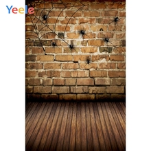 Yeele Halloween Photocall Fade Brick Wall Spider Web Photography Backdrop Personalized Photographic Backgrounds For Photo Studio