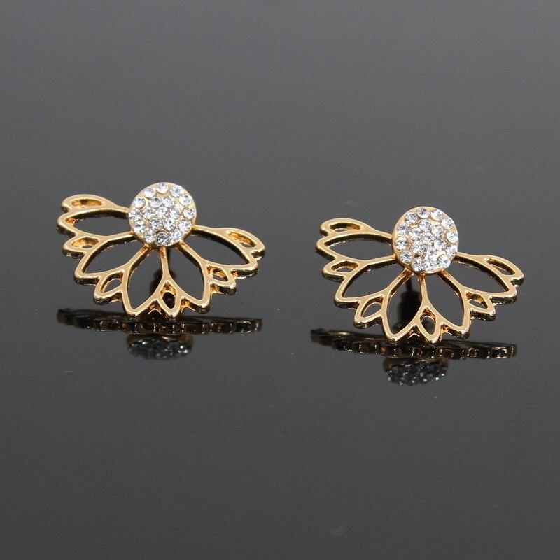 Mode rose pierre cristal fleur goutte boucles d'oreilles pour femmes or strass boucles d'oreilles bijoux modernes cadeau 36