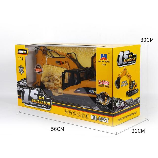 fast free dropship Huina 1550 RC Super Diecast Excavator for over 8 year from Australia warehouse to Australia tax/duty prepaid