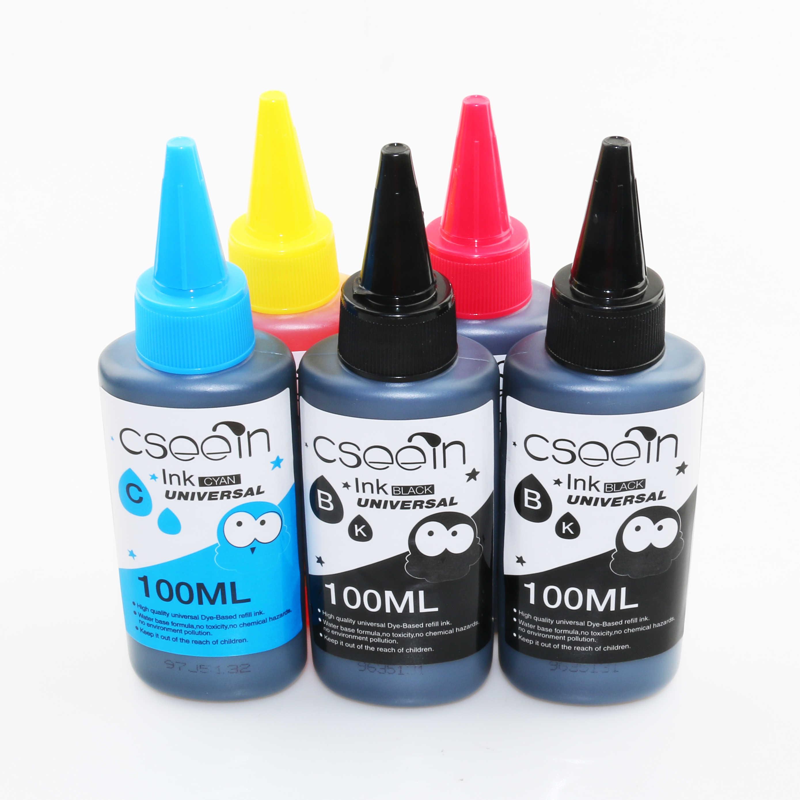 5 PK لون صبغ إعادة الملء الحبر لاستبدال HP Kit 100 مللي زجاجة الحبر لإبسون قسط لكانون طابعة نافثة للحبر لأخيه
