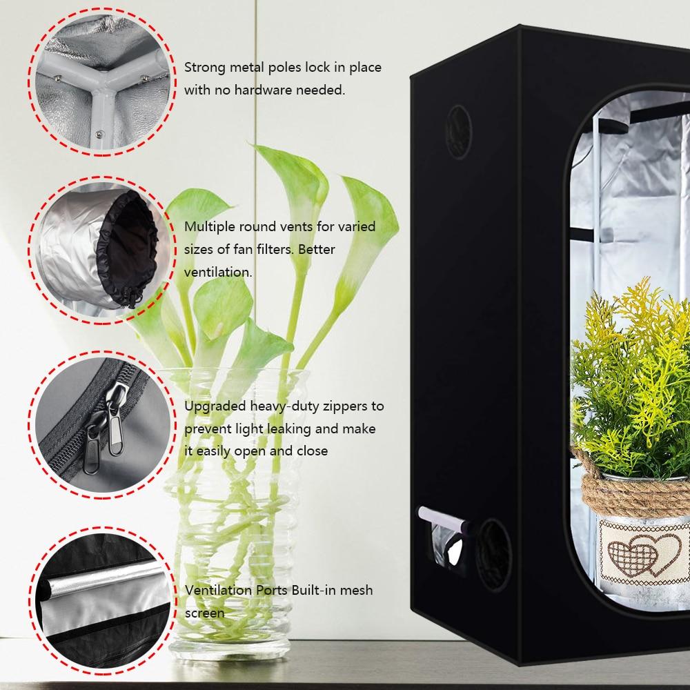 Chambre de culture hydroponique intérieure pour plantes, 60/80/100/120/150/240CM, tente de culture hydroponique pour plantes, jardin, serre