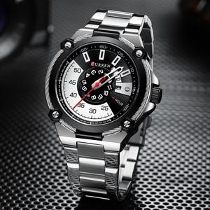 Image 5 - Часы CURREN Мужские кварцевые, дизайнерские модные деловые повседневные из нержавеющей стали с автоматической датой
