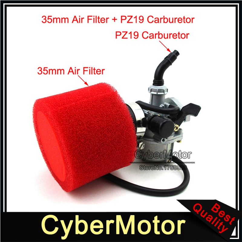 PZ19 19mm Carb Carburetor + 35mm Air Filter For ATV Quad Dirt <font><b>Pit</b></font> Trail Motor <font><b>Bike</b></font> Go Kart 50cc 70cc 90cc 110cc <font><b>125cc</b></font> image