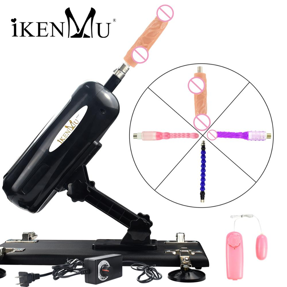 <font><b>Machine</b></font> Gun <font><b>Sex</b></font> Set And Vibrator <font><b>Sex</b></font> Toy,Different <font><b>Dildos</b></font> 4CM Pumping Distance,Speed Up to 300 Times Per Minute iKenmu Brand image