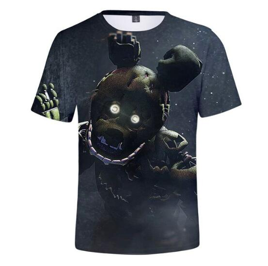 T-Shirt Boys/girls Summer New At 3D Five-Nights Tees Freddy Hip-Hop Comfortable