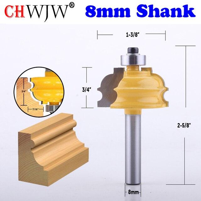 1 pc 8mm 샹크 건축 몰딩 라우터 비트 라인 나이프 목공 커터 목공 도구 용 테론 커터