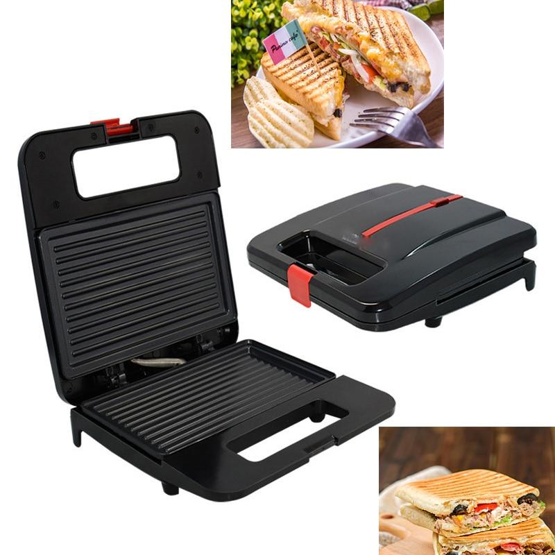 220V BBQ Steak Hamburger Grill Barbecue Meat Roaster Breakfast Machine Egg Frying Pan Panini Sandwich Maker Bread Oven Plate
