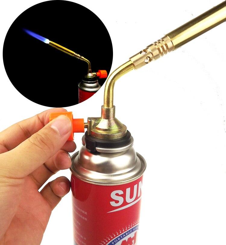 Портативный металлический бутан горящий пистолет барбекю отопление зажигания пламя Кемпинг сварочный газовый фонарь зажигалка
