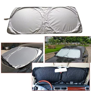 Automobile Magnetic Sunshade Cover Car Windshield Snow Sun Shade Waterproof Protector Cover Car Front Windscreen Cover Hot image