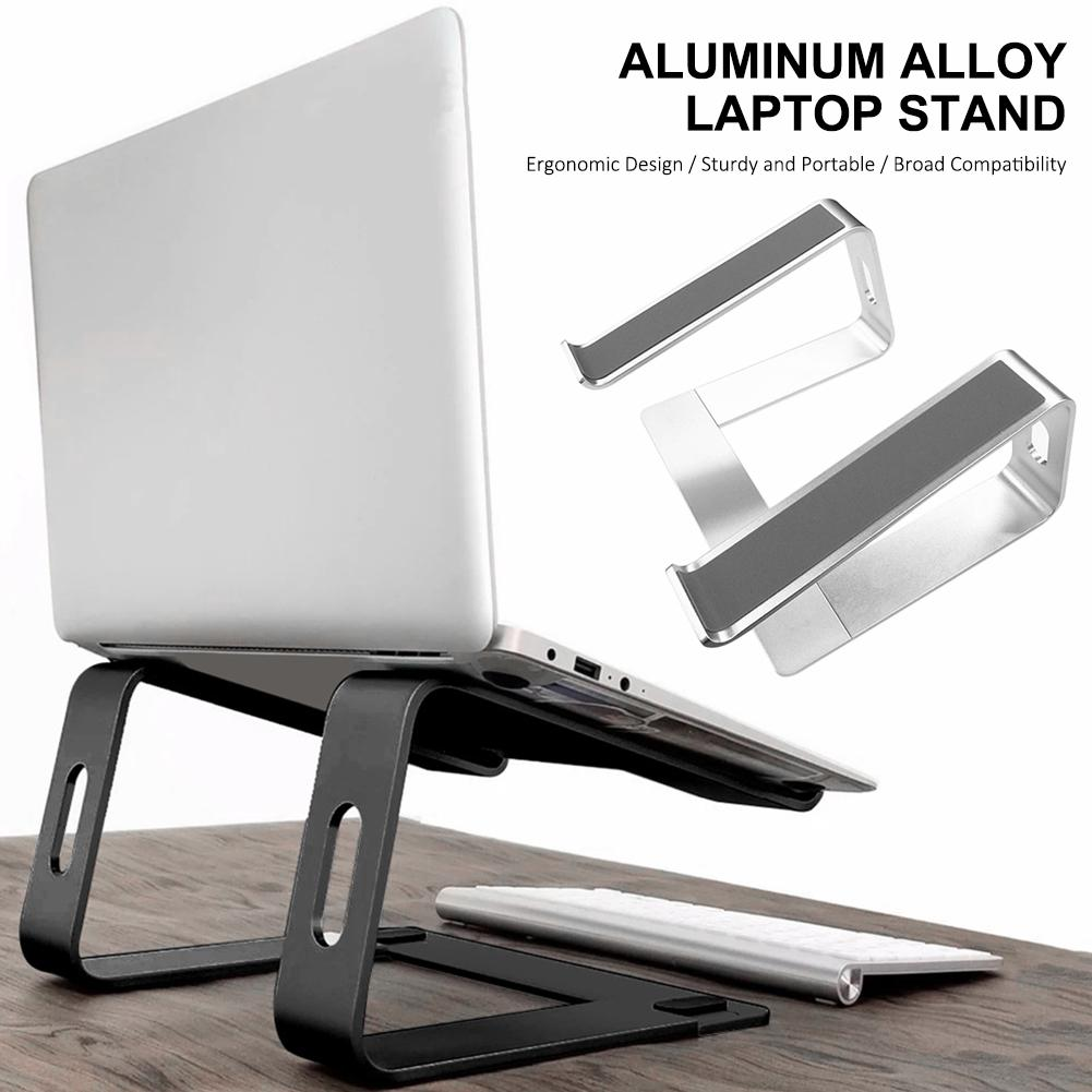 Laptop Riser Stand Universal Detachable Portable Sturdy Aluminum Alloy Notebook PC Desk Holder Compatible With Between 10-17