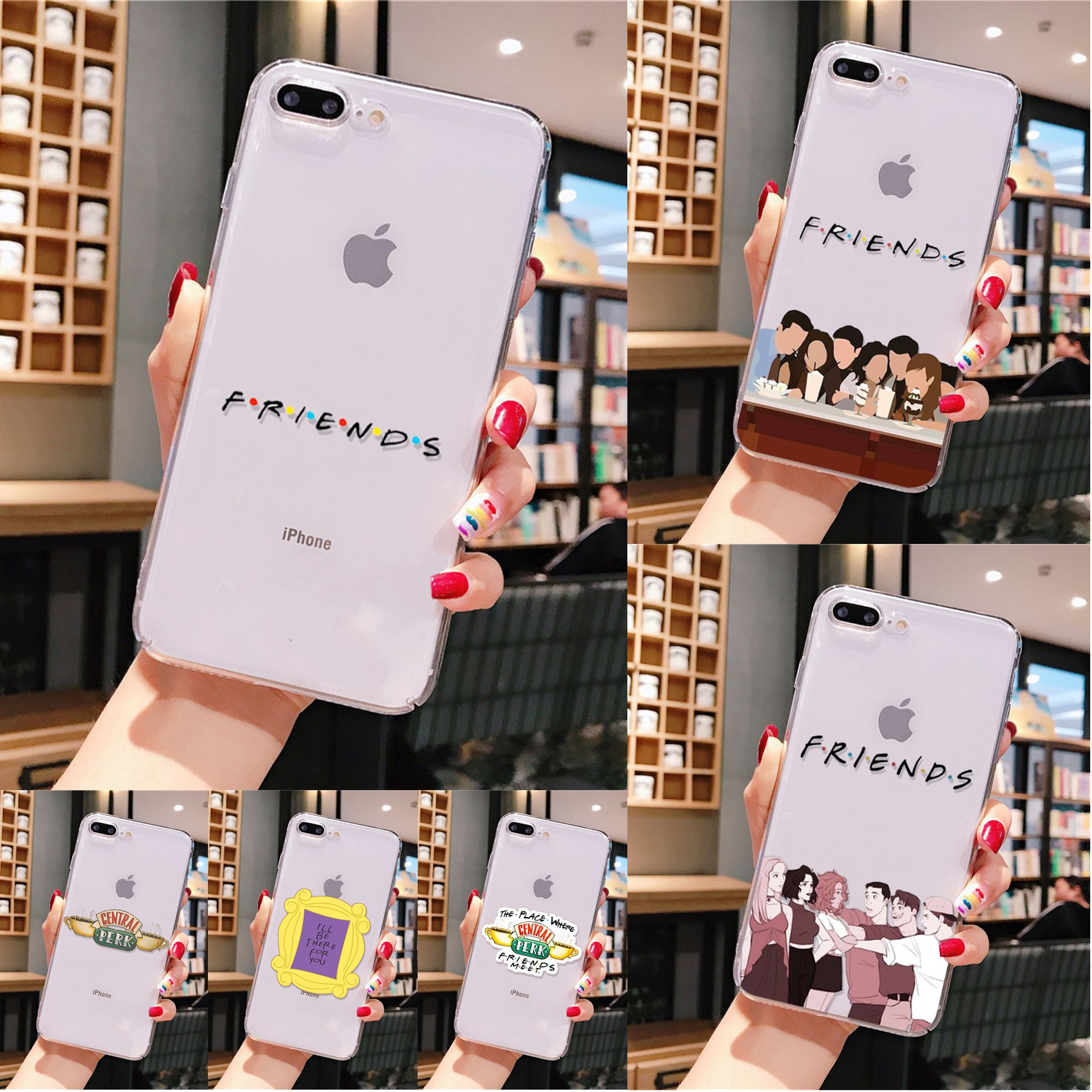 Yinuoda Freunde <font><b>tv</b></font> Smart Cover Transparent Weiche Shell Handy-Fall für <font><b>iPhone</b></font> 6S 6plus 7 7plus 8 8Plus X Xs MAX 5 5S XR 11 pro max image