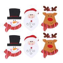 Столовые приборы сумки креативные ткани Рождество мультфильм держатель для вилок сумки для столового серебра для фестиваля Вечерние