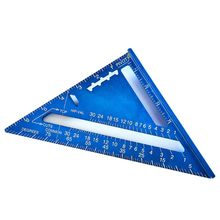 Measuring Ruler Woodwork Triangle-Angle-Protractor Aluminum-Alloy 7inch