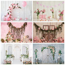 Yeele Newborn Baby Wood Floral Birthday Decor Children Water Wave Photography Background Photographic Backdrops For Photo Studio