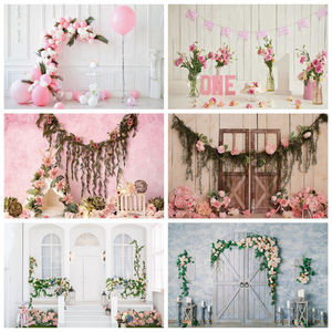 Image 1 - Yeele Newborn Baby Wood Floral Birthday Decor Children Water Wave Photography Background Photographic Backdrops For Photo Studio