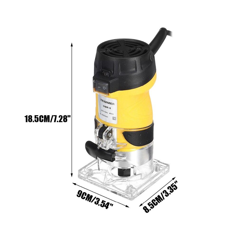 2200W électrique main tondeuse bois routeur 6.35mm bois plastifieuse menuiserie coupe découpage Machine ensemble d'outils électriques - 3